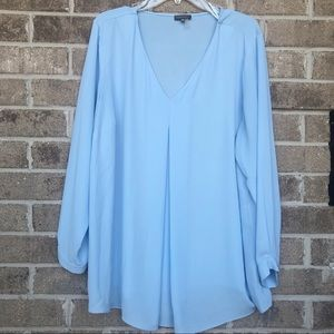 Vince Camuto Blue Top Size 2x